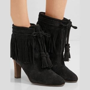 See By Chloé Irina Fringed Suede Ankle Boots 42